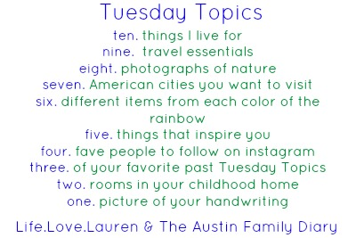 •Tuesday Topics•O1