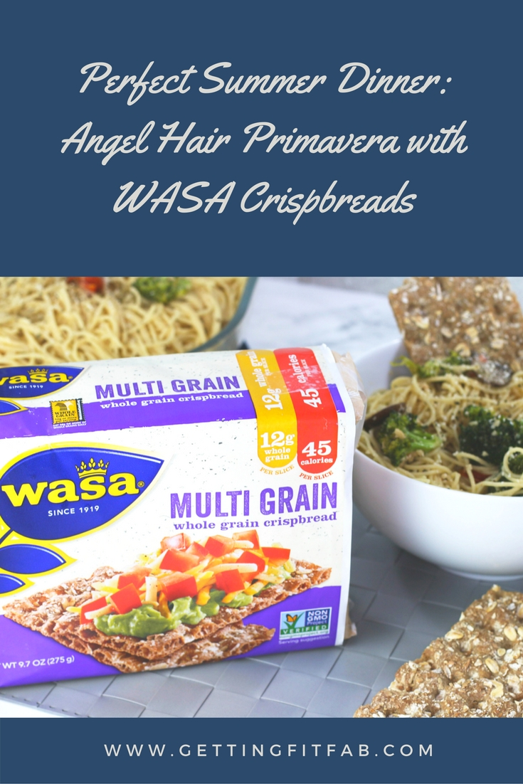 Perfect Summer Dinner: Angel Hair Primavera with WASA Crispbreads