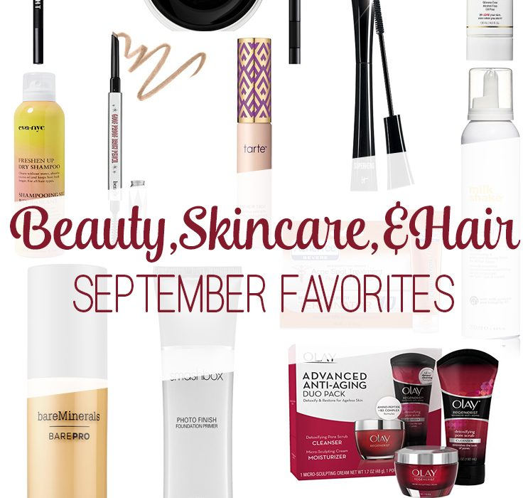 Beauty, Skincare & Hair >> September Favorites