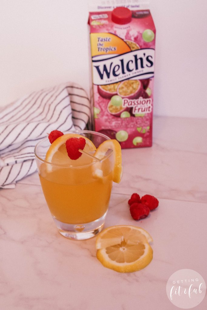 #ad| Are you channeling Summertime like I am?! If we take all of our collective thoughts and will warmer weather to come it'll come! Plus these two delicious drinks I made with Welch's Refrigerated Cocktail in Passion Fruit. #Welchs #Drinks #Cocktails