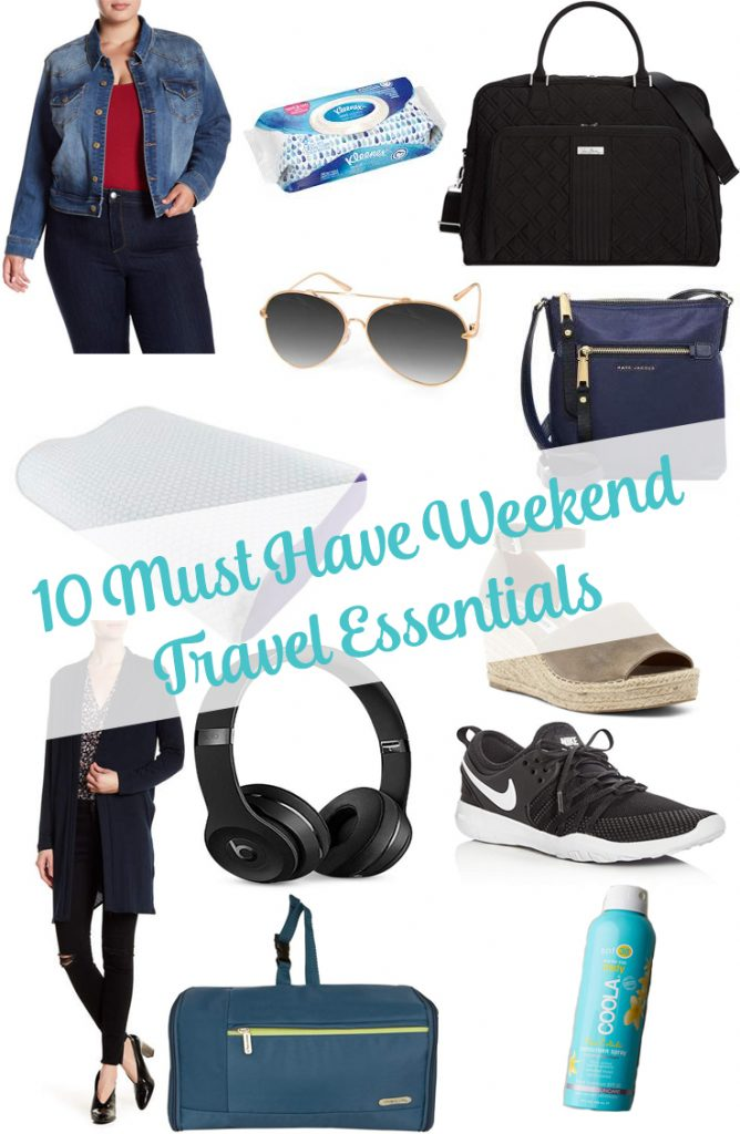 #ad| Do you have a few weekend trips planned this year like me? I've put together my 10 Must Have Weekend Travel Essentials on the blog! This can take you from day to night and it can be altered for any weather and special occasions!