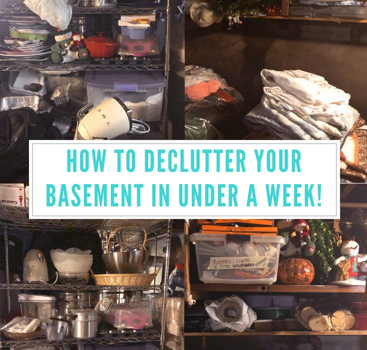 #Ad| Do you have a big basement, that is just a collecting area? I know I do, and I finally took the time to declutter, and I love how it came out! I'm sharing my tips on how to declutter your basement in under a week! #GladTortureTest