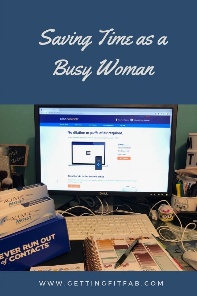 I'm sharing 4 ways to save time as a busy woman, entrepreneur, or blogger! My favorite time saver has to do with 1-800 Contacts, and if you're a fellow contact lens wearer, check out my blog post! #ExpressExam #ad