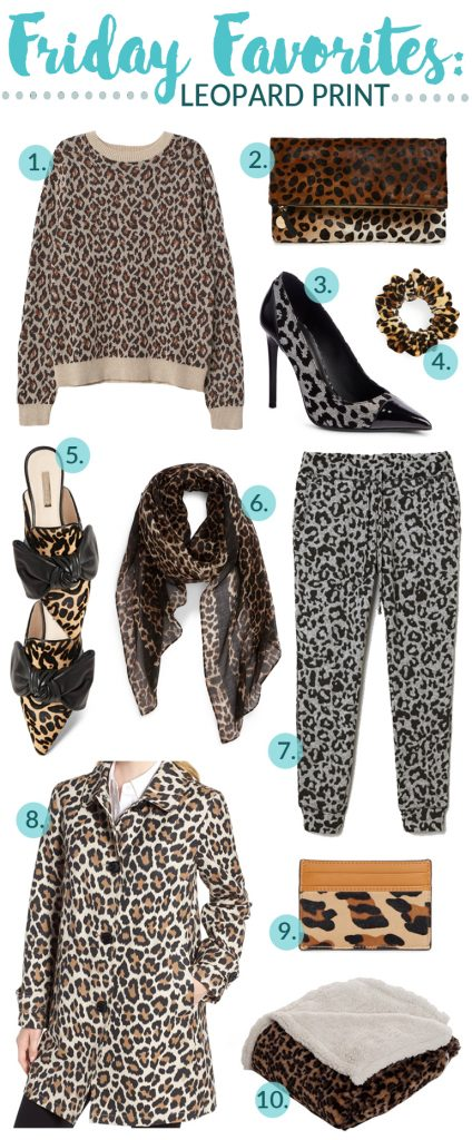 Another Friday Favorites! It's all about the Leopard print, and I am totally loving everything! it's a great neutral piece and to add a fun print to any outfit! #FridayFavorites