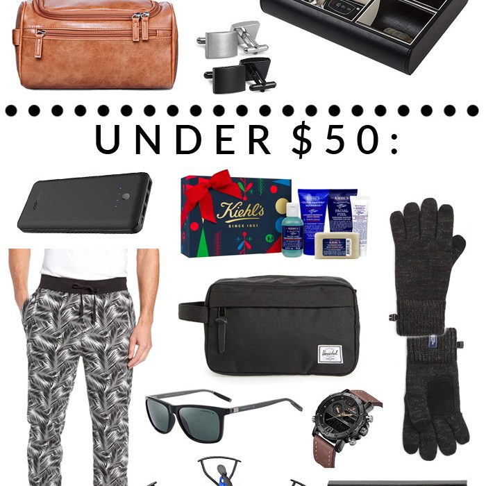 "Holiday Gift Guide: Best Gifts for Him Under $25/$50/$100. For the man in your life that has everything and ""doesn't need"" anything. #GFFHolidayGiftGuide"