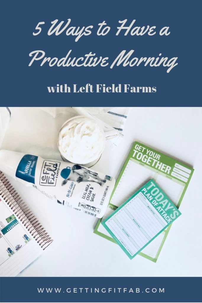 #ad| I'm sharing the 5 Ways to Have a Productive Morning! Being a blogger, VA and having a fulltime job, my mornings are the time I get things done! @LeftFieldFarms helps me keep on my wellness goals & enjoying my morning coffee! #LeftFieldFarms