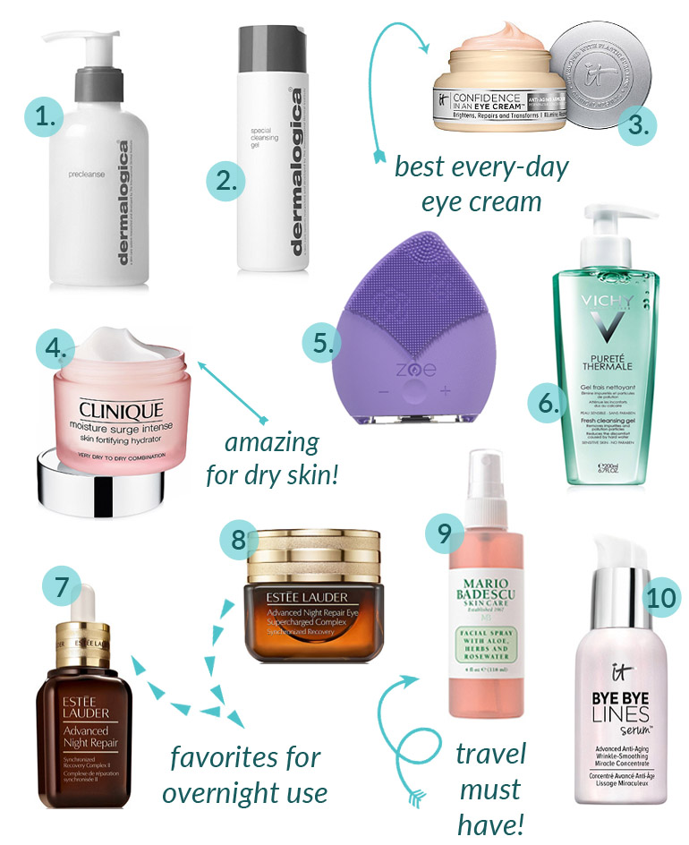 Happy Friday! I'm sharing My Top 10 Skincare Products from 2018! Skincare is essential to help me look my best! #FridayFavorites