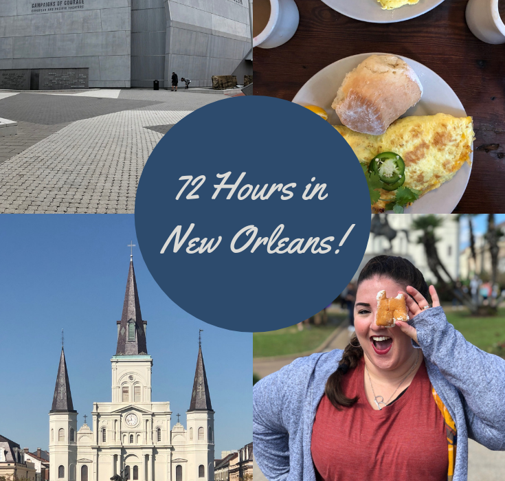 A long awaited post is finally live! Spending 72 hours in New Orleans, our day to day itinerary. We jam packed a lot in three days, and I love what we were able to see and do! If you're heading to New Orleans, check out my post! #OneTimeInNOLA