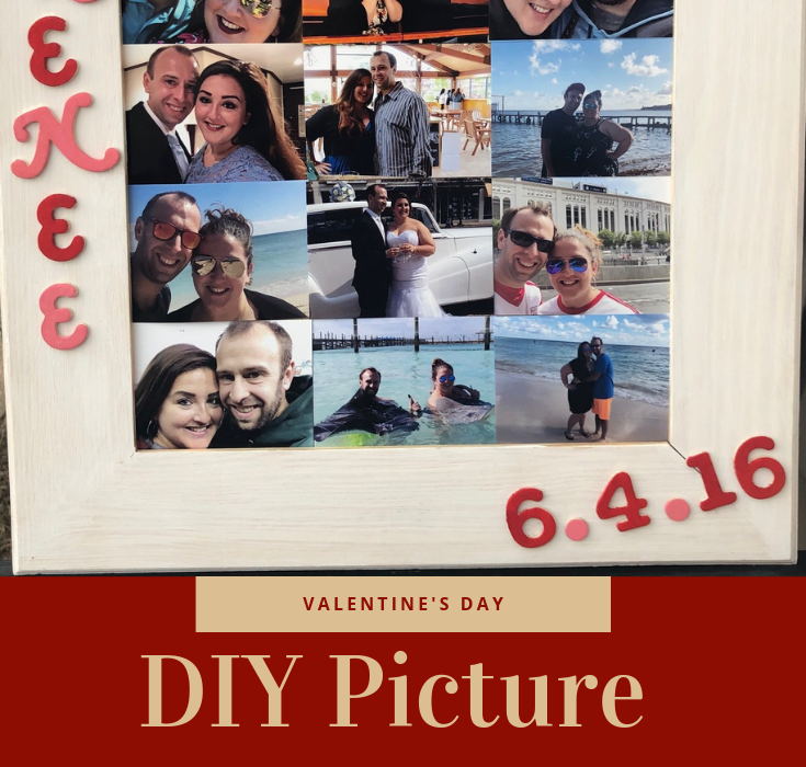 I've made a DIY Picture Frame for CA this Valentine's Day! You can easily make on yourself for any holiday, celebration, or anniversary! #ValentinesDayGift