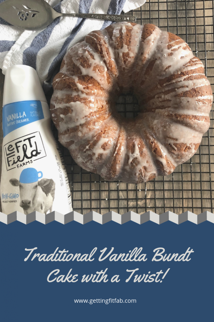 #ad| I'm sharing something a little different on my blog- Traditional Vanilla Bundt Cake with a Twist! It's a favorite recipe of mine and I'm so glad I can share it! Check out my blog post to see what the twist is! #LeftFieldFarms