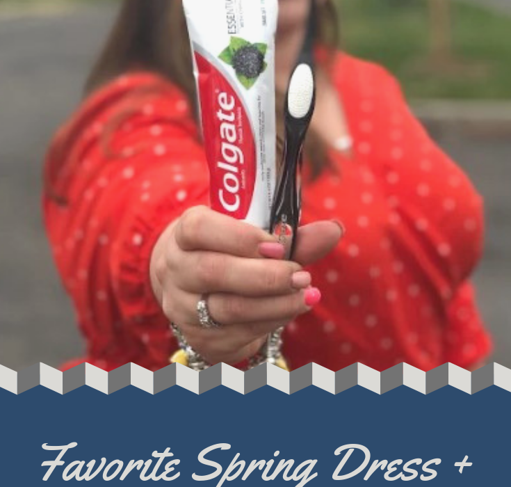 Favorite Spring Dress + Accessories @Colgate #ColgateEssentials