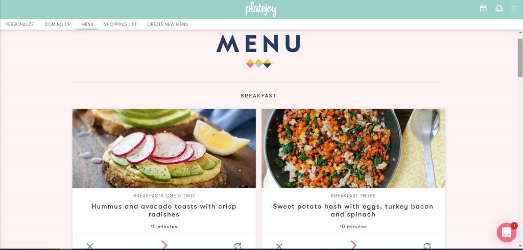 #ad| I'm excited to start this partnership with @platejoy! It's taking the guesswork and difficulty meal planning that comes with figuring out what to eat for the week! I wrote out why you need to give #PlateJoy a try on my blog!  #PlateJoyPartner