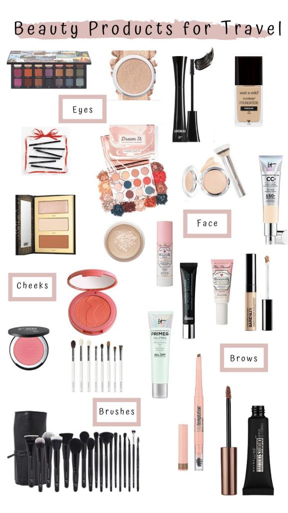 I'm sharing all of the beauty products I took on my cruise! 21 makeup must-haves for travel, these are products I use daily for my day job. Check them out!