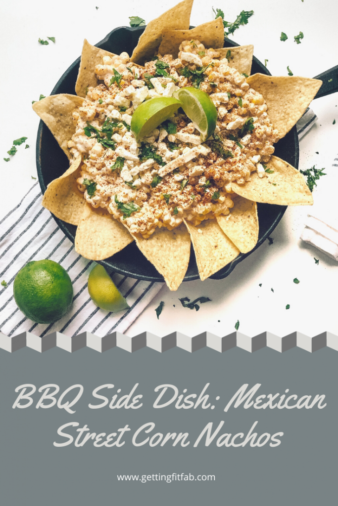 If you're a lover of nachos, I may have your new favorite dish! Mexican Street Corn Nachos, a delicious and different BBQ side dish! Check it out on my blog