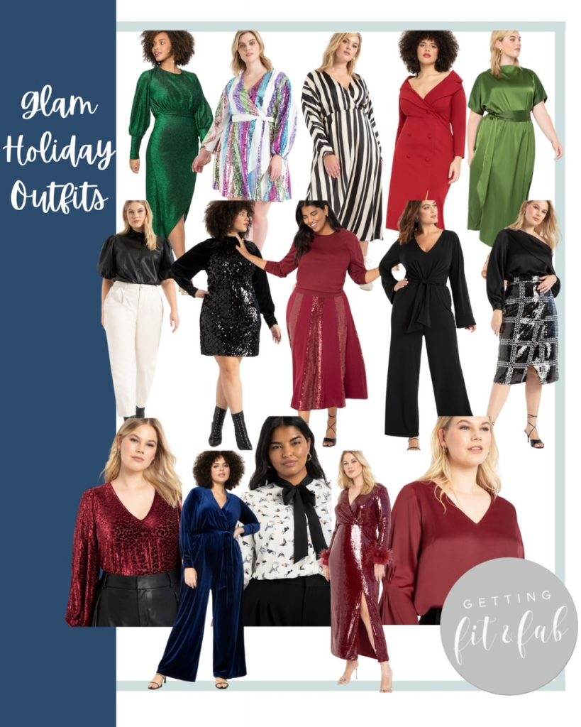 Holiday glam + casual holiday outfits for the upcoming holidays! This year doesn't mean that you can't glam up or get comfy! #HolidayOutfits